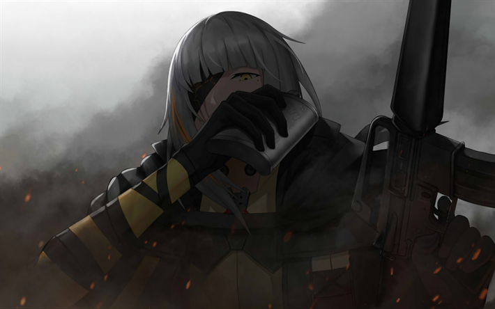 M16A1, Boss, anime characters, Girls Frontline, Tactical Doll