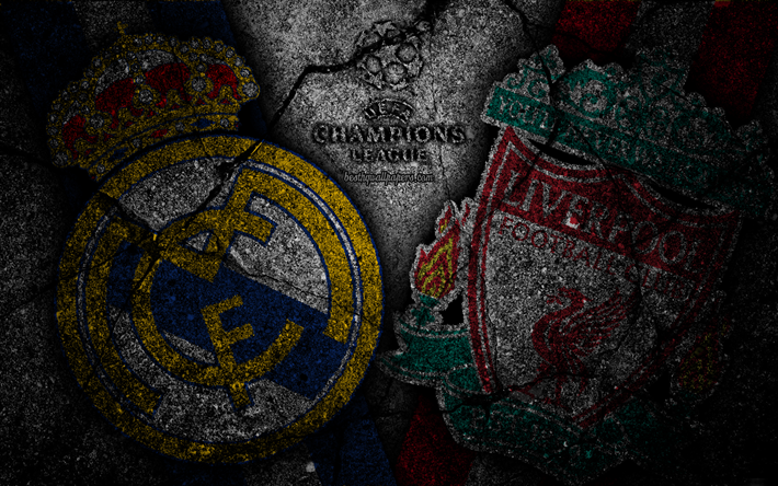 Download Wallpapers Real Madrid Vs Liverpool 4k Grunge