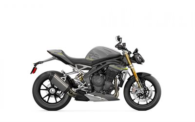 Triumph Speed Triple RS, 2021, side view, exterior, new Black Speed Triple RS, British motorcycles, Triumph