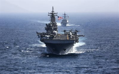 USS Kearsarge, LHD-3, US Navy, amphibious assault ship, Wasp-class, American warships, USA flag, USA