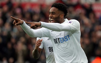 Leroy Fer, 4k, footballers, Swansea City, Premier League