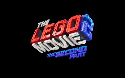 4k, The Lego Movie 2 The Second Part, logo, poster 2019 movie, Lego