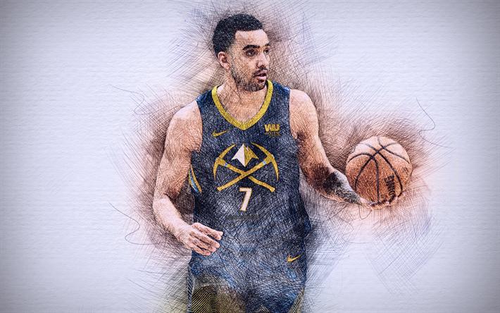 Download Wallpapers Trey Lyles 4k Artwork Basketball Stars Denver Nuggets Nba Lyles Basketball Drawing Trey Lyles For Desktop Free Pictures For Desktop Free