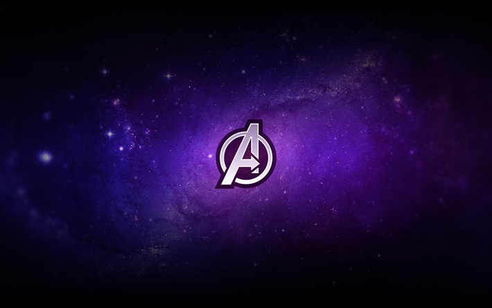 Download Wallpapers Avengers Logo 2019 Avengers Endgame Purple