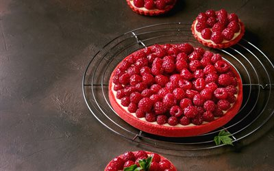 raspberry pie, baking, cakes, desserts, berry pie, raspberries
