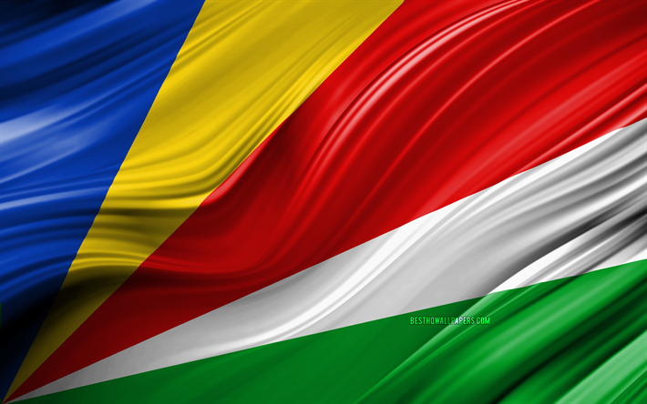 Download Wallpapers 4k Seychelles Flag African Countries