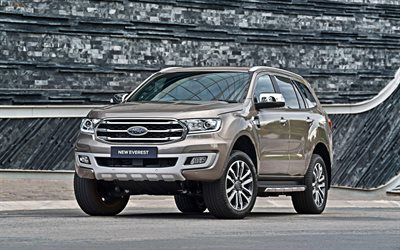 Ford Everest, 4k, SUVs, 2019 cars, american cars, New Everest, 2019 Ford Everest, Ford