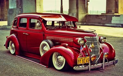Chevrolet Master Deluxe, retro cars, 1938 cars, tuning, low rider, american cars, 1938 Chevy Master Deluxe, Chevrolet, HDR