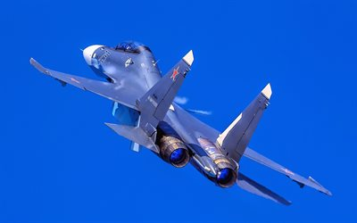 Sukhoi Su-30, back view, fighters, Flanker-C, Russian Air Force, Su-30, Russian Army, Sukho, Flying Su-30i