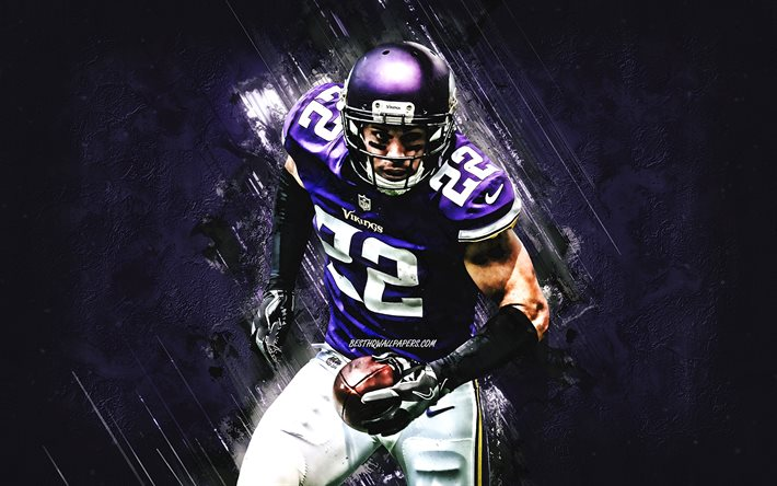 Download Wallpapers Harrison Smith Minnesota Vikings Nfl Portrait Purple Stone Background American Football National Football League For Desktop Free Pictures For Desktop Free