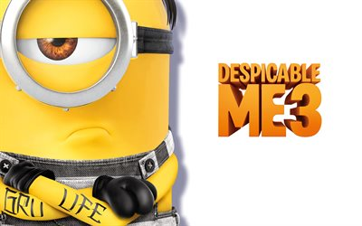Despicable Me 3, poster, 2017 movie, minions