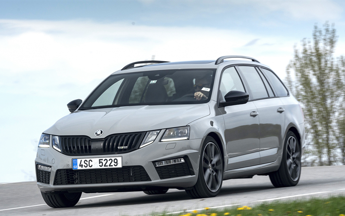 download wallpapers 4k skoda octavia rs combi 2018 cars movement road skoda for desktop. Black Bedroom Furniture Sets. Home Design Ideas