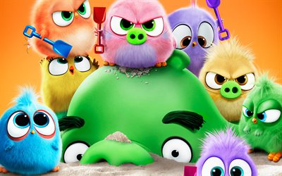 Leonard and Hatchlings, The Angry Birds Movie 2, 2019 movie, 3D-animation, Angry Birds 2, Leonard, Hatchlings