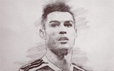 Download wallpapers Cristiano Ronaldo, CR7, portrait ...