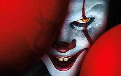 It Chapter Two, 2019, promo poster, Pennywise the Dancing Clown, 4k, promotional materials, main character, Bill Skarsgard