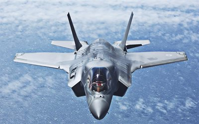 Lockheed Martin F-35 Lightning II, front view, fighter, combat aircraft, jet fighter, Lockheed Martin, US Army
