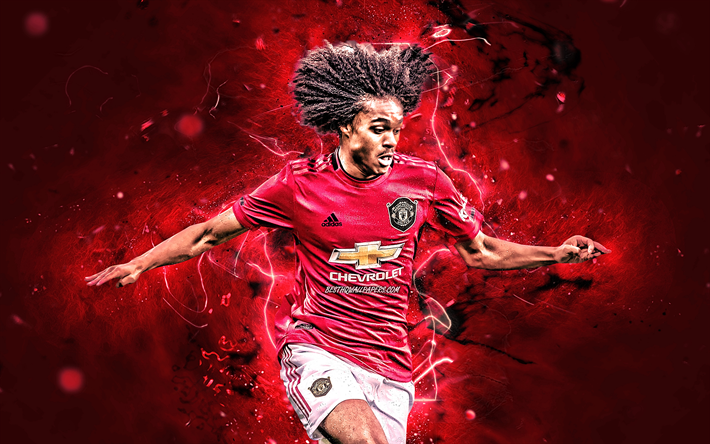 Download Wallpapers Tahith Chong 2019 Manchester United Fc Dutch Footballers Neon Lights Premier League Chong Soccer Football Man United For Desktop Free Pictures For Desktop Free