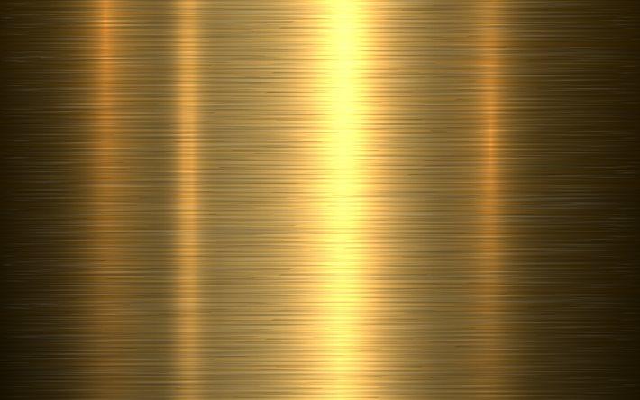Download Wallpapers Golden Textures 4k Polished Metal Plate Metal Textures Golden Metal Background Polished Metal Textures Metal Plate Metal Backgrounds Golden Backgrounds For Desktop Free Pictures For Desktop Free