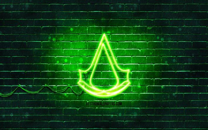 assassins creed logo wallpaper 4k