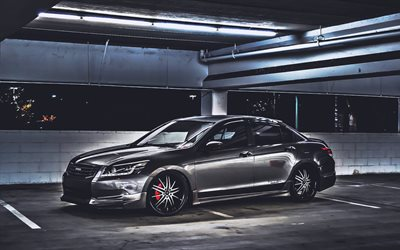 Honda Accord, parking, tuning, darkness, japanese cars, 2015 Honda Accord, Honda