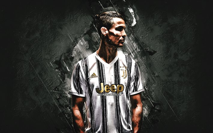 Cristiano Ronaldo, CR7, portrait, portuguese footballer, football star, new 2020 Juventus uniform