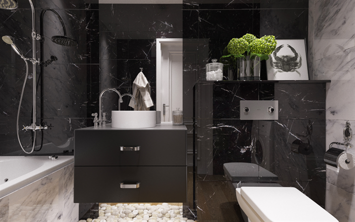 bathroom interior design wallpapers modern bathroom design black bathroom 10453