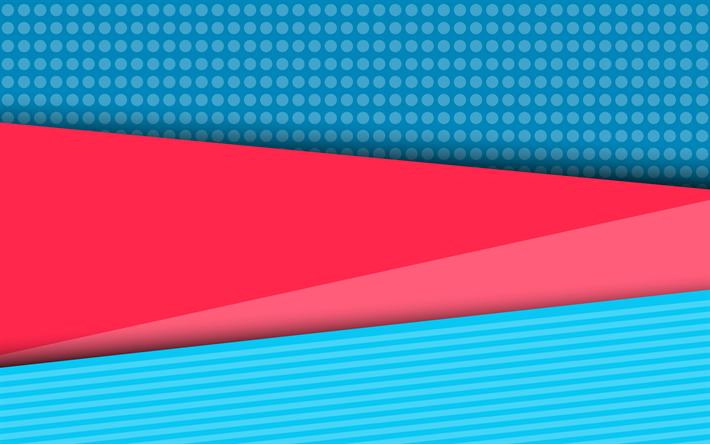 Scarica sfondi multicolore astrazione strisce blu rosa for Materiali per il design