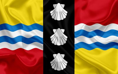 Flag of Bedfordshire, England, British counties flags, Bedfordshire, silk flag