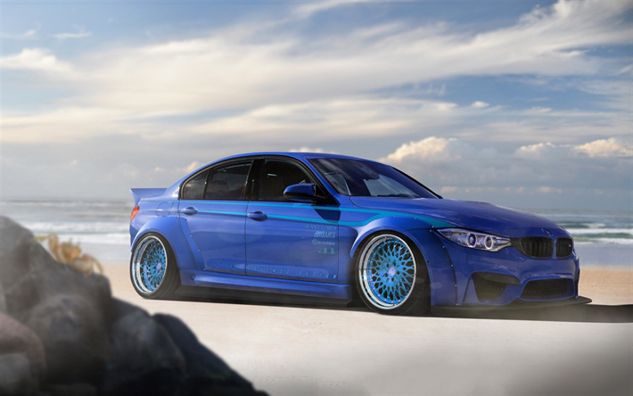 Download Wallpapers F80 Bmw M3 Stance 2017 Cars Tuning Blue M3