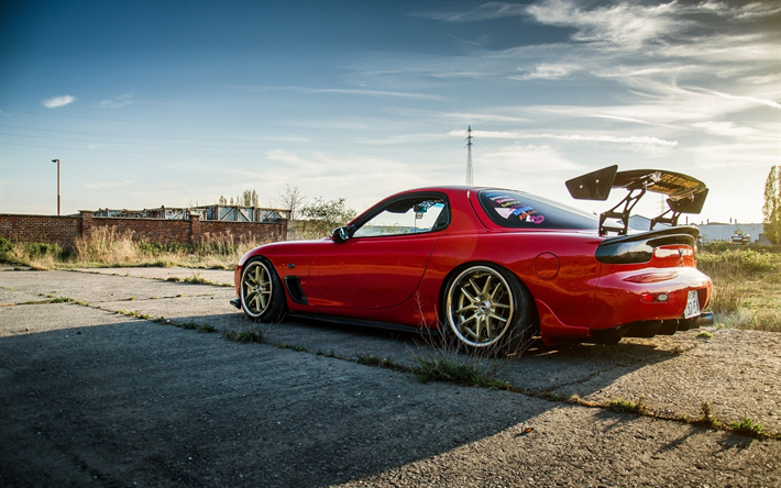 Mazda RX 7, Japanese Cars, Tuning, Sportcars, Red RX 7