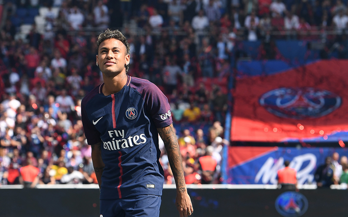 Neymar Paris Saint Germain PSG France Football Brazilian Player
