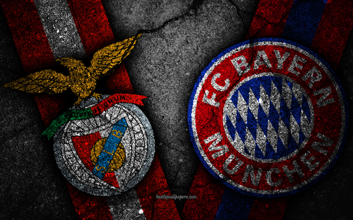 Download Wallpapers Benfica Vs Bayern Munchen 4k Champions League Group Stage Round 1 Creative Benfica Fc Bayern Munchen Fc Black Stone For Desktop Free Pictures For Desktop Free