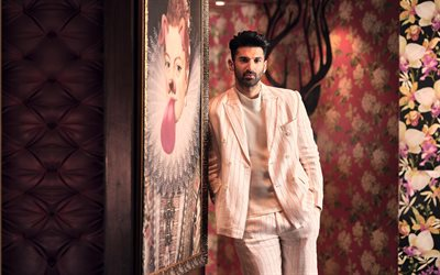 Aditya Roy Kapoor, indian actor, portrait, photoshoot, pink man suit