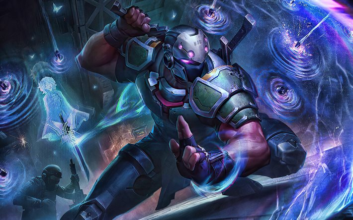 Shen, 4k, savaş, MOBA, League of Legends, resimler, Legends of Runeterra, Shen League of Legends