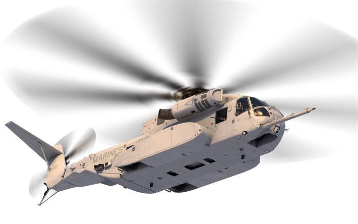 Sikorsky CH-53K King Stallion, military heavy cargo helicopter, CH-53K, United States Marine Corps, military helicopters