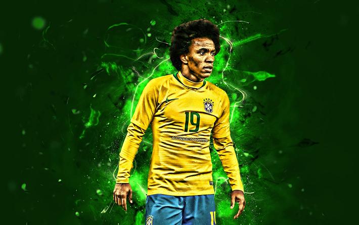 Download Wallpapers Willian, Midfielder, Brazil National