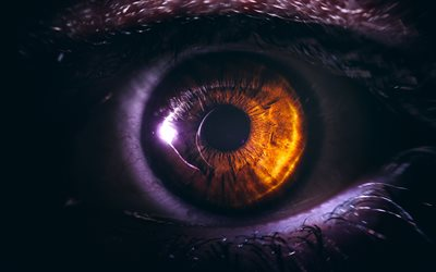 human eye, 4k, digital art, creative, eye in night, artwork, close-up