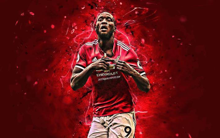 Download Wallpapers Romelu Lukaku, Goal, Manchester United