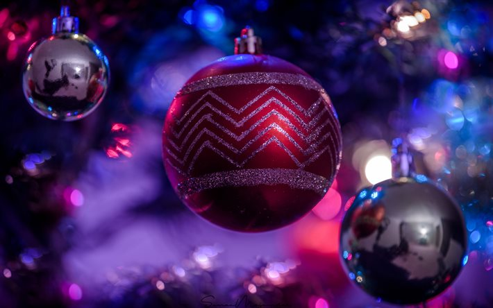 Closed For Christmas 2021 Purple Ornements Pics Download Wallpapers Purple Christmas Ball Happy New Year Christmas Background Christmas Evening 2021 New Year For Desktop Free Pictures For Desktop Free