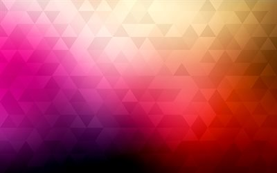 mosaic, triangles, pink background, geometric figures, geometry, creative