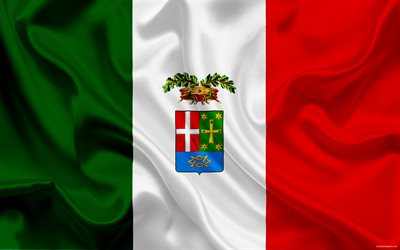 Como coat of arms, Lombardy, Italy, city, Como, Italian flag, national symbols, flag of Italy