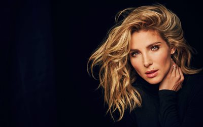 Elsa Pataky, Spanish actress, portrait, beautiful woman, make-up, black dress, Spanish fashion model, Elsa Lafuente Medianu