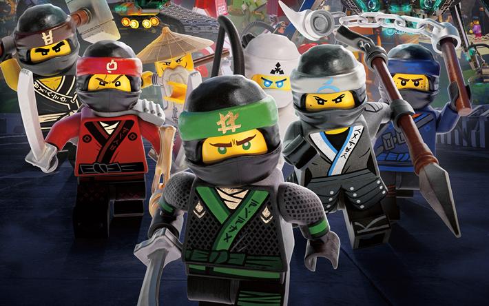 Scarica sfondi lego ninjago film 4k guerrieri ninja 2017 film