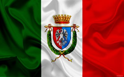 coat of arms, province Rome, Italy, italian flag, symbols, flag of Italy