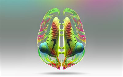 Magista 2, 4k, brain, Nike, creative, football boots