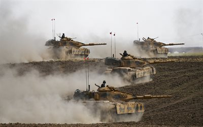 modern tanks, polygon, Sabra Mk II, Turkish main battle tank, Magach-7C, Armed Forces of Turkey, M60T, Turkish Land Forces, modern armored vehicles