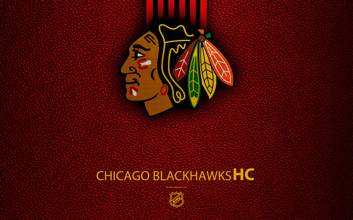 Download wallpapers chicago blackhawks hc 4k hockey team nhl chicago blackhawks hc 4k hockey team nhl leather texture logo voltagebd Image collections