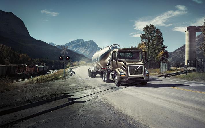 Download Wallpapers Volvo Vnr 4k 2017 Trucks Semi Truck Volvo