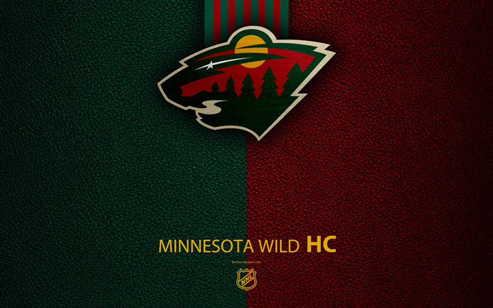 Minnesota Wild HC 4K Hockey Team NHL Leather Texture Logo