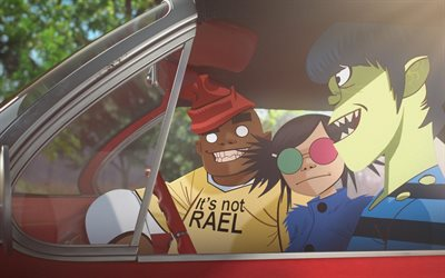 I Gorillaz, arte, personaggi animati, superstar, band britannica